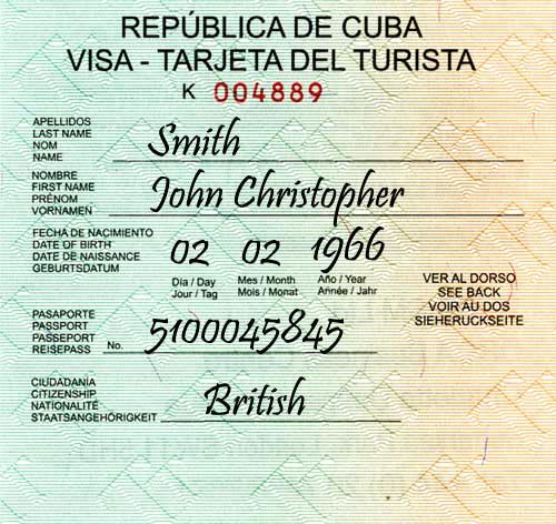 Cuban Visa 2